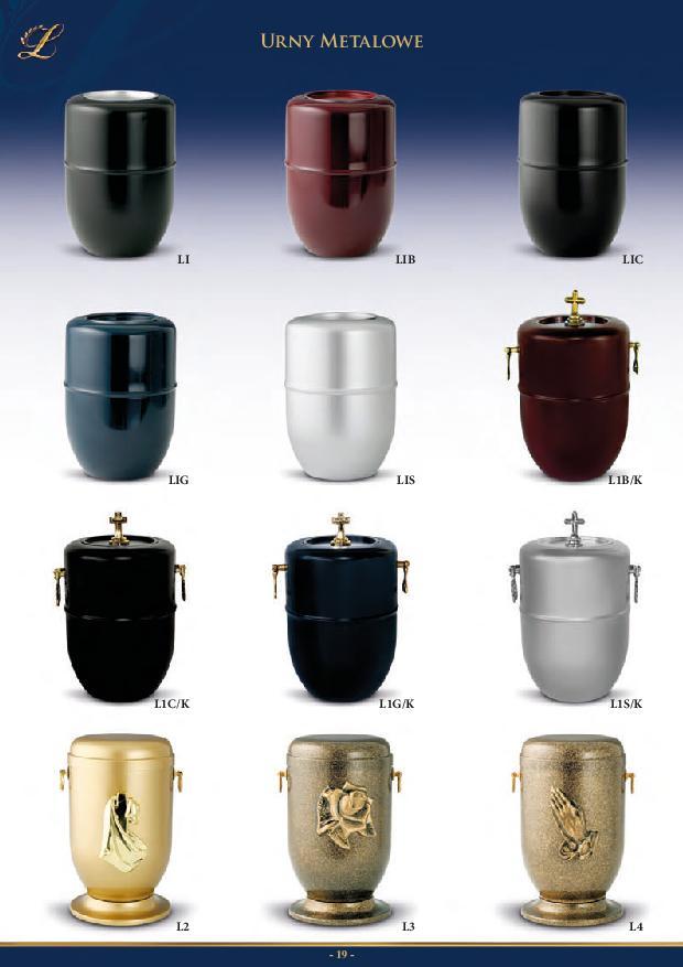 Oferta urn pogrzebowych Iredar+