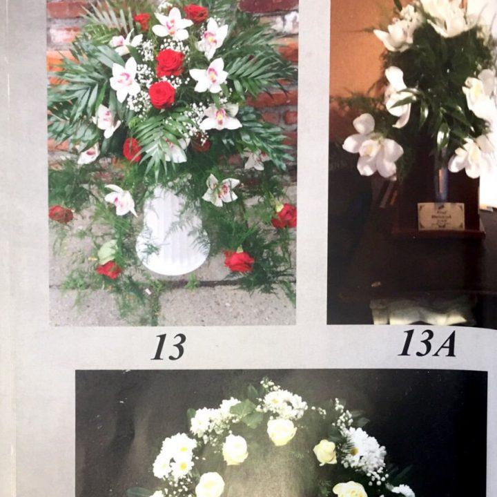 Pogrzebowe wieńce i wiązanki